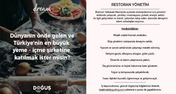 yalıkavak restoran yönetimi
